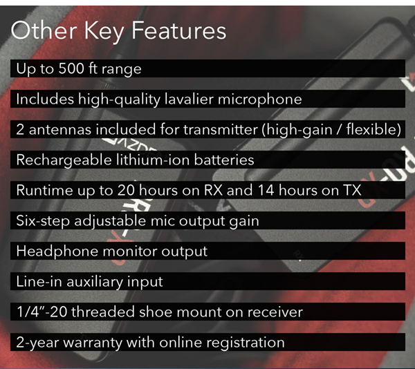 Additional Key Features