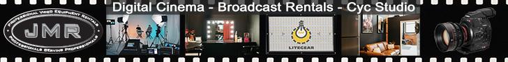 JMR Professional Video Rentals NYC - Digital Cinema - Broadcast Rentals - Cyc Studio